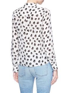 alice + olivia 'Willa' Stace Face print silk crepe shirt