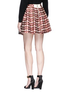 alice + olivia 'Sherri Fizer' heart jacquard mini skirt