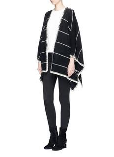 alice + olivia 'Kamala' stripe oversized brushed knit poncho