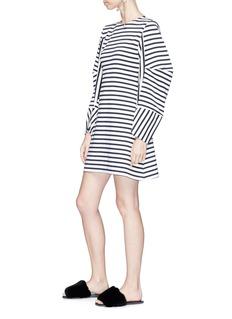 Minki Cocoon sleeve stripe jersey dress
