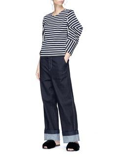 Minki Cocoon sleeve stripe jersey top