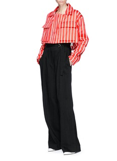 Minki Stripe cropped boxy jacket