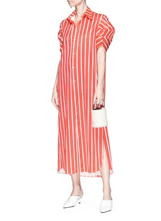 Minki Structural sleeve stripe shirt dress