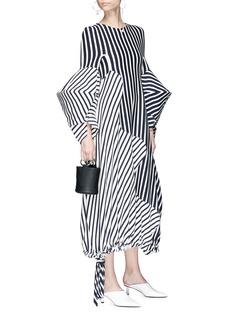 Minki Structural sleeve stripe jersey maxi dress