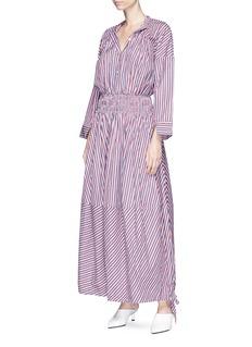 Minki Stripe maxi shirt dress