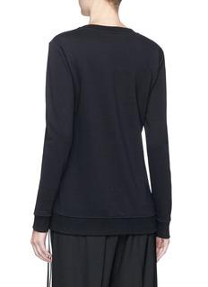Minki Abstract fringed patch sweatshirt