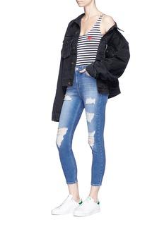 Ivy Park 'Jamie' distressed cropped skinny jeans
