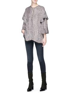 Isabel Marant 'Basile' ruffle metallic sequin top