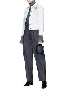 Isabel Marant 'Ensley' embroidered denim jacket