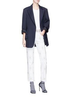 Isabel Marant 'Nolan' studded fringe cropped jeans