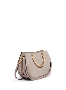 Chloé 'Pixie' medium bracelet handle crossbody saddle bag