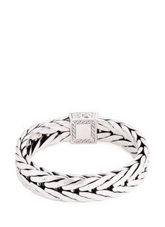 John Hardy Diamond silver weave effect link chain bracelet