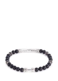 John Hardy Sapphire spinel onyx beaded silver bracelet