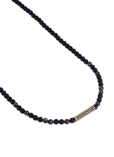 John Hardy Apache gold onyx bead dotted charm necklace