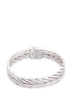 John Hardy Sapphire silver weave effect link chain bracelet