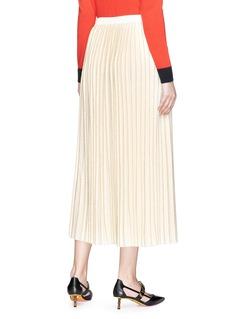 Gucci Metallic Lurex stripe plissé pleated knit skirt
