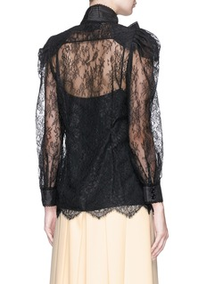 Gucci Bow brooch Chantilly lace blouse