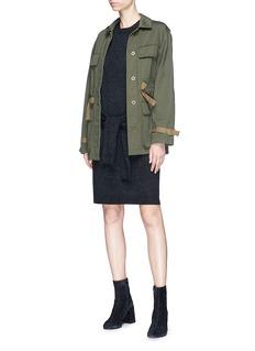 Vince Waist strap wool-cashmere dress