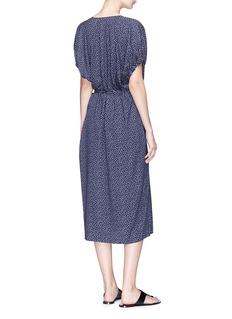 Vince Star print kimono wrap midi dress