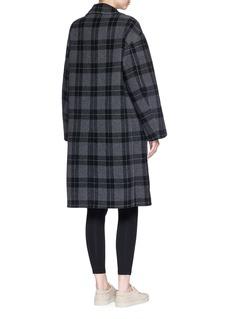 Vince Check plaid melton coat