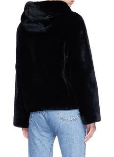 Vince Lambskin shearling hooded jacket