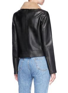 Vince Detachable collar lambskin leather jacket