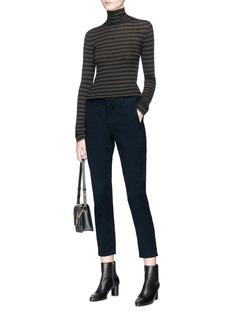 Vince Stripe cashmere turtleneck sweater