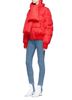 Magda Butrym 'Starling' scarf oversized quilted puffer jacket