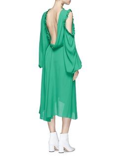 Magda Butrym 'Calgiari' cutout shoulder silk midi dress