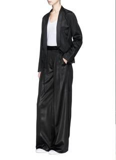 T By Alexander Wang Mock wrap satin wide leg pants