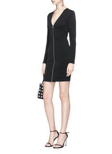T By Alexander Wang Zip ponte jersey dress