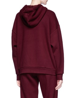 T By Alexander Wang Fleece lined zip hoodie