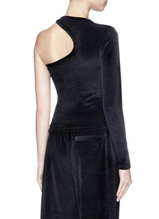 T By Alexander Wang One-shoulder velour top