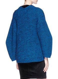 T By Alexander Wang Oversized V-neck chunky knit sweater