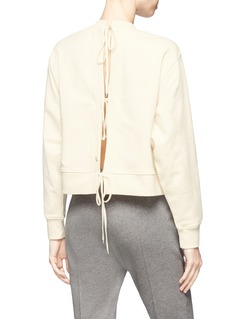 T By Alexander Wang Tie back French terry sweatshirt