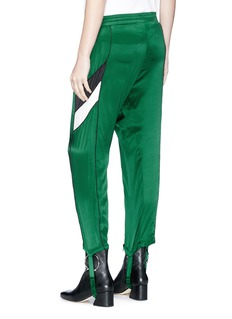 GROUND-ZERO Silk stirrup track pants
