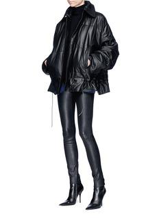 HAIDER ACKERMANN 夹棉填充真皮绗缝外套