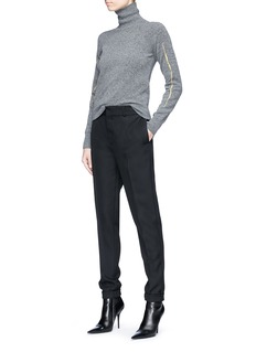 Haider Ackermann Metallic embroidered turtleneck knit sweater