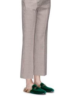 Gucci 'Princetown' lamb fur velvet slide loafers