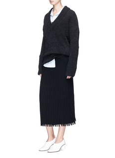 Cédric Charlier Oversized bouclé knit sweater