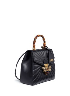 Gucci 'Queen Margaret' jewelled bee quilted leather backpack