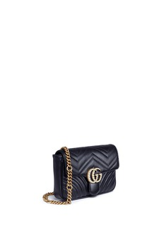 Gucci 'GG Marmont' pearl logo small quilted leather crossbody bag