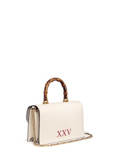 Gucci 'Ottilia' insect print snakeskin flap bamboo top handle leather bag