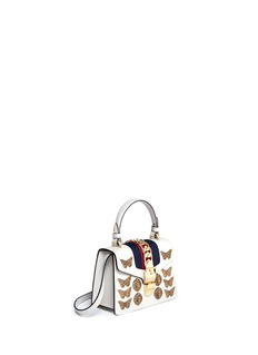 Gucci 'Sylvie' mini animal stud chain web leather bag