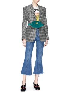 Gucci 'GG Marmont' matelassé velvet bum bag