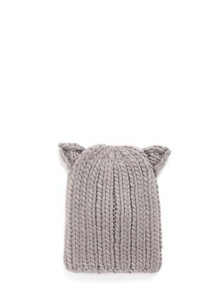 Main View - Click To Enlarge - Eugenia Kim - 'Felix' Swarovski crystal cat ear wool beanie