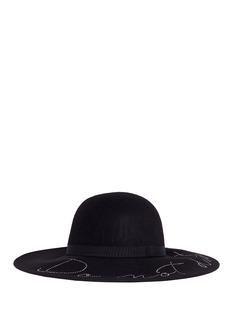 Eugenia Kim 'Honey' Swarovski crystal slogan wool felt hat