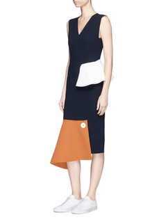 Comme Moi Patchwork crepe dress