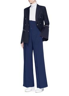 Comme Moi High waist wide leg crepe pants