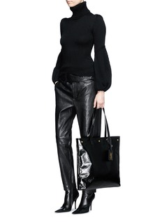 Saint Laurent Tuxedo belt lambskin leather pants